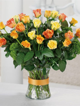 Gold 'N' Rosy - Bouquet Of 24 Specialty Roses