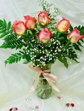 6 Roses Its A Girl Bouquet For Congratulating On Occasion Of Newly Born Baby Girl