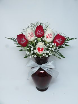 6 Happy Anniversary Rose Bouquet